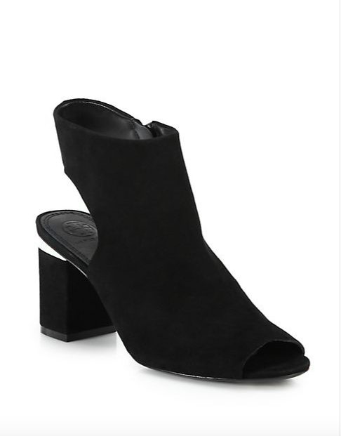 Tory Burch Leather Cutout Booties