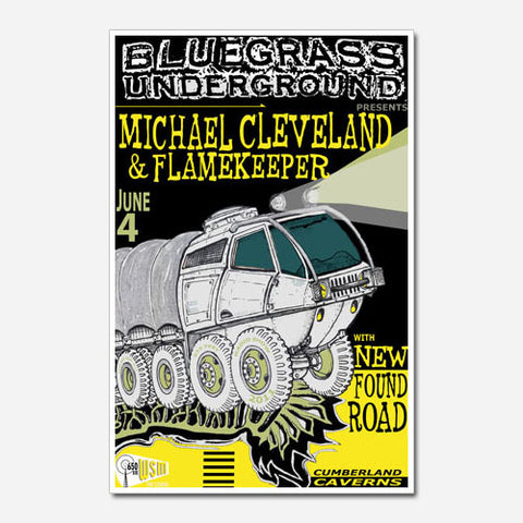 Michael Cleveland and Flamekeeper Show Poster (2011)