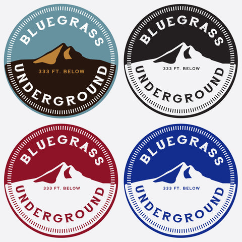 Bluegrass Underground Vinyl Sticker Bundle
