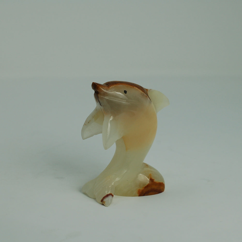 Onyx Marble Dolphin 4""