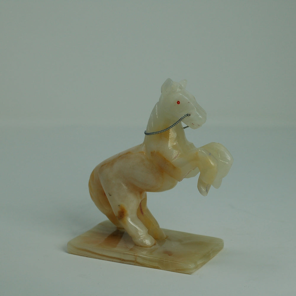 Onyx Marble Horse On Stand - Small