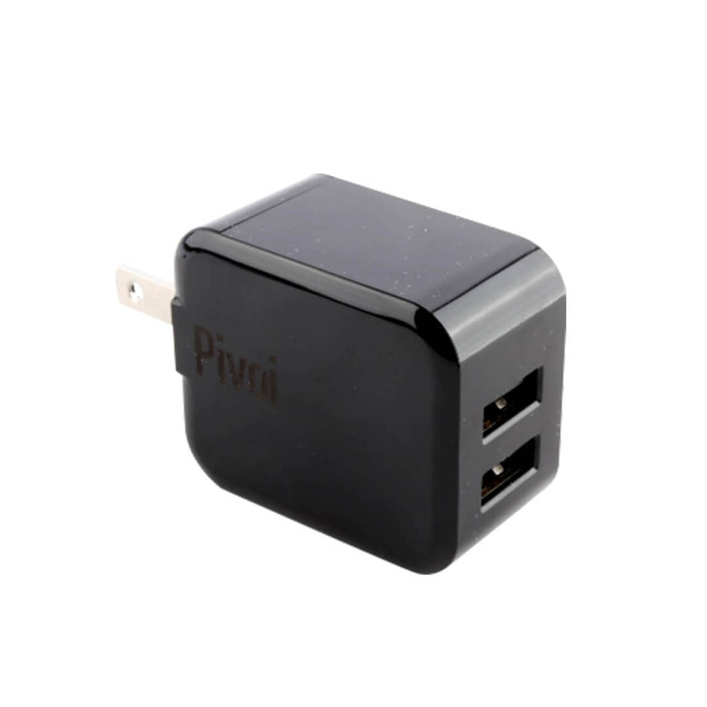 Dual USB Wall Charger - Black