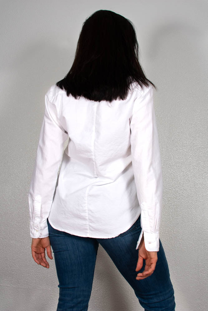 White Oxford High Low Shirt