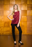 Wine Ultrasuede Tunic