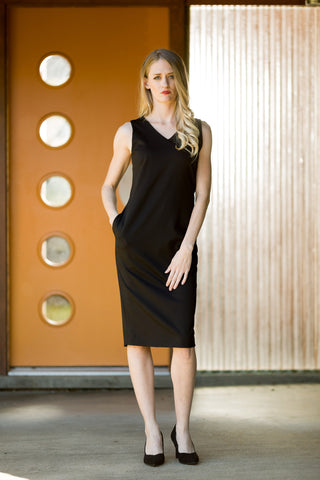 Black Ultrasuede Tunic