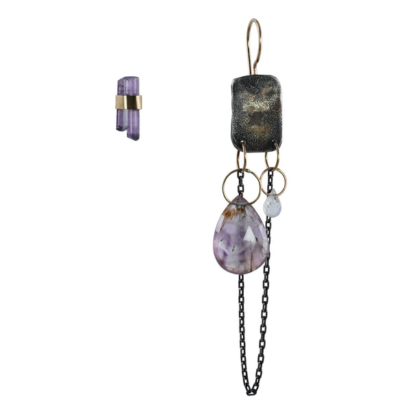 Scapolite Crystal & Melody Stone Earrings