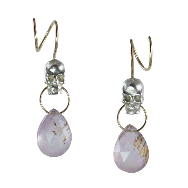Twisted Calavera & Melody Stone Earrings