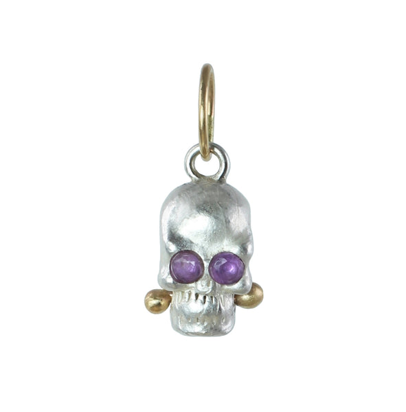 Calavera Charm - Choose Your Gemstone