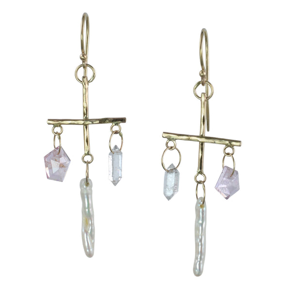 Gemmy Modern Chandelier Earrings
