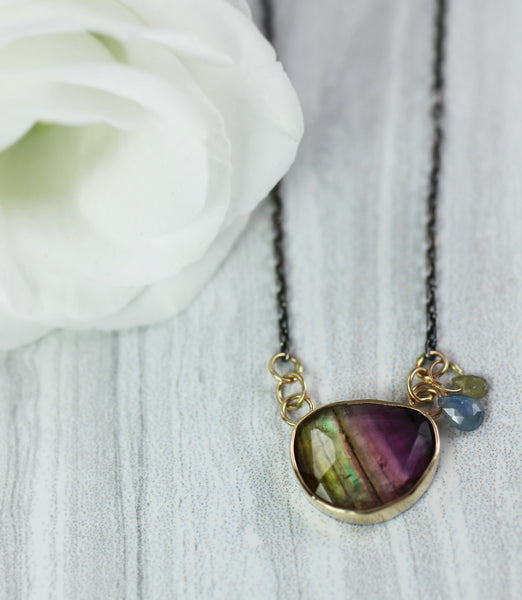 Rainbow Tourmaline Necklace