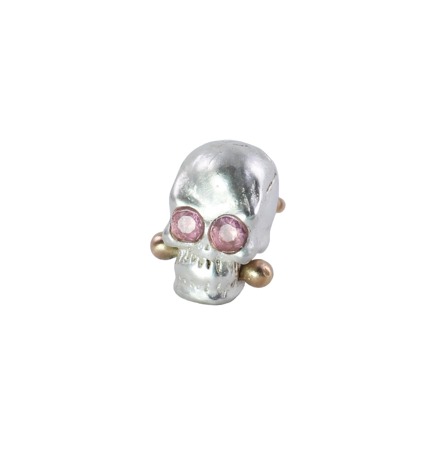 Single Calavera Stud Earring - Choose Your Gemstone