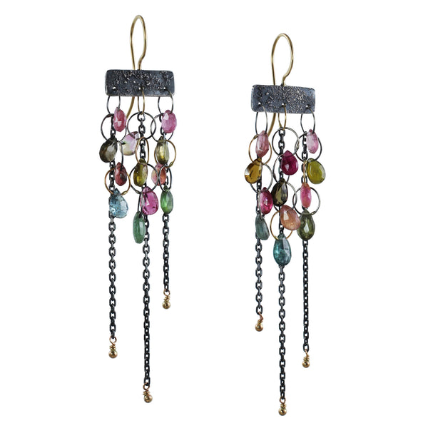 Cascading Tourmaline Earrings