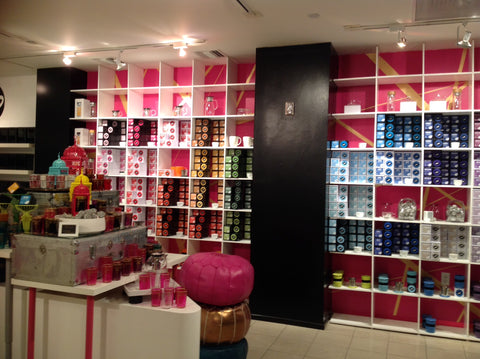 T-WE TEA opens up a colorful new store with a rainbow wall of tea in San Francisco.