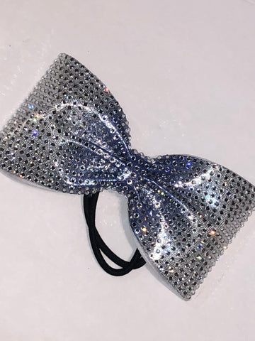 Chrome Rhinestone Bow