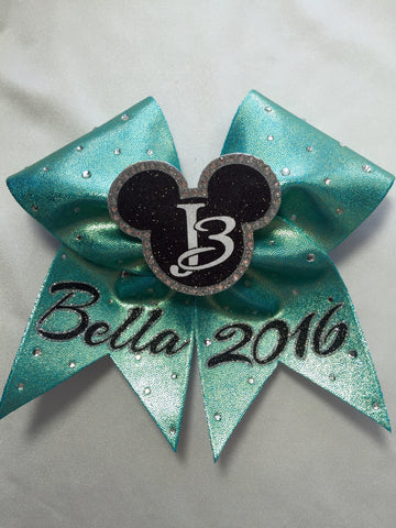 Rhinestone Mouse in the Middle Bow