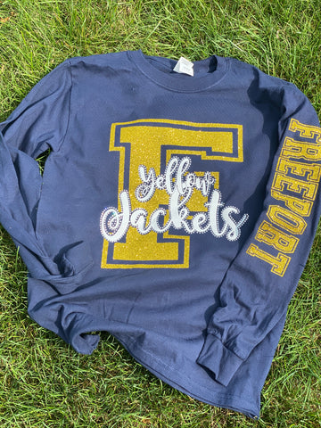 "Freeport YellowJackets Big ""F"" Logo"