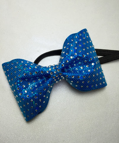 NCT Turquoise and Rhinestone headband bow