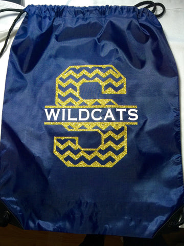 Wildcats Glitter Drawstring Backpack