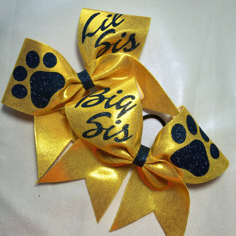 Big Sis/Lil Sis  or Best Friends Paw Bow set
