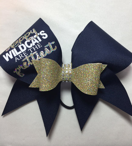 Happy Wildcats are the Prettiest Bow
