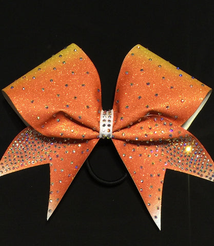 Candy Corn Glitter Bow