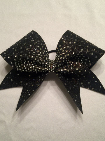Glitter Rhinestone Center Ombre' Bow
