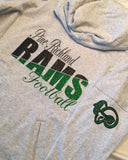 Pine-Richland Rams split color hoodie
