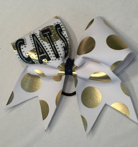 Shenango Wildcats Polka Dot Cats Bow