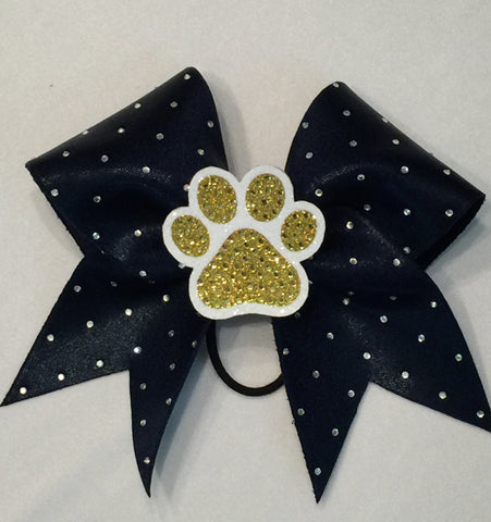 Shenango Wildcats Removable Paw Clip Bow