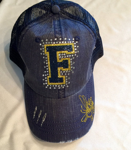 Freeport Yellow Jackets Distressed Ball Cap