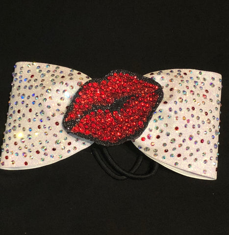Lips Tailless Rhinestone Bow