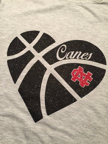 New Castle Glitter Heart Logo