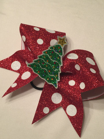 Christmas Tree Glitter Bow