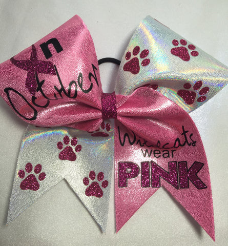 In October Wildcats wear Pink
