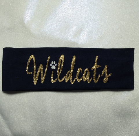 Wildcats Glitter Headband