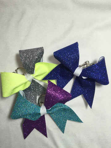 Mini Glitter Keychain Bow