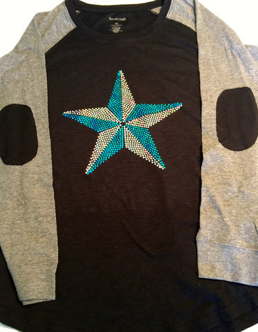 Nautical Star Spangle Elbow Patch Tee