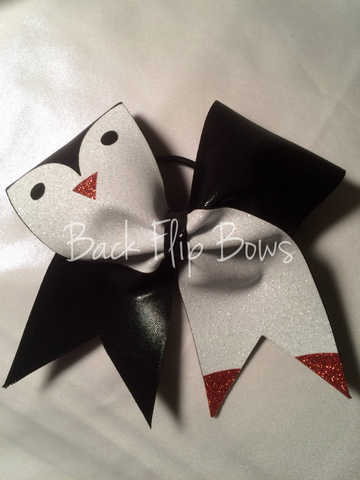 Penguin Glitter Bow