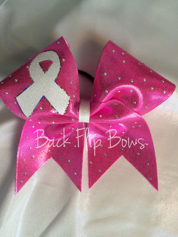 Pink Breast Cancer Awareness Bow Rhinestone
