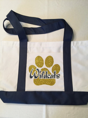 Wildcats Bling Tote Bag