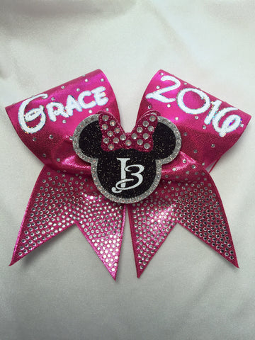 Ombre' Rhinestone Mouse Bow