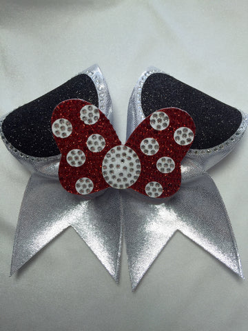 Rhinestone Mouse Ears Bow