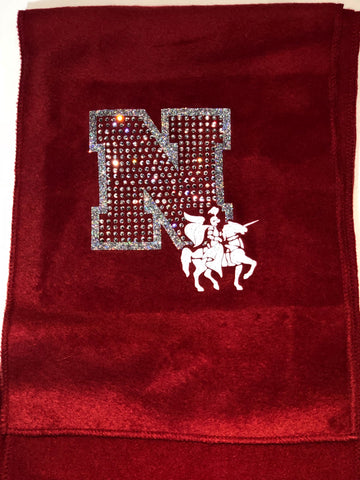 Neshannock Lancers Fleece Scarf with Bling