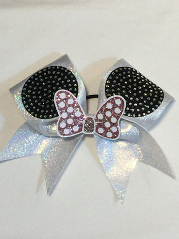 Mouse Ears Bow with Bling
