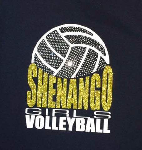 Shenango Wildcats Girls Volleyball Bling Shirt
