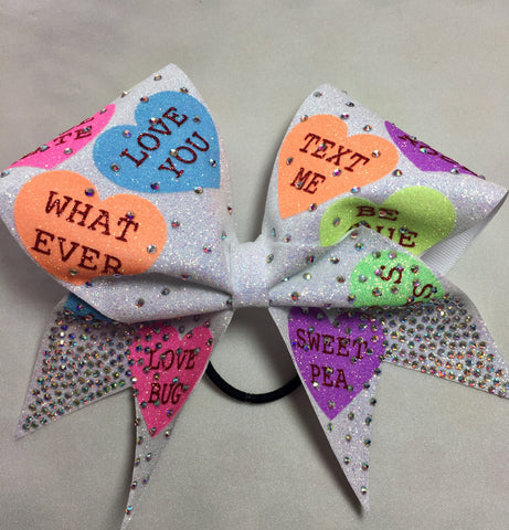 Conversation Heart Bow
