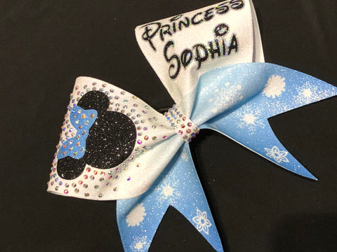 Mouse Head Frozen Themed Bow