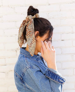 Swept Away Leopard Amuse Scrunchie