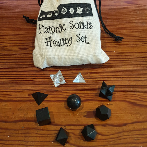Platonic Solids Crystal Set