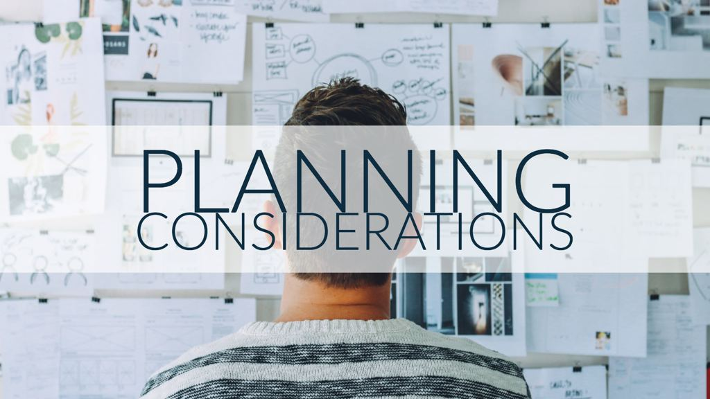 Planning considerations for MPO